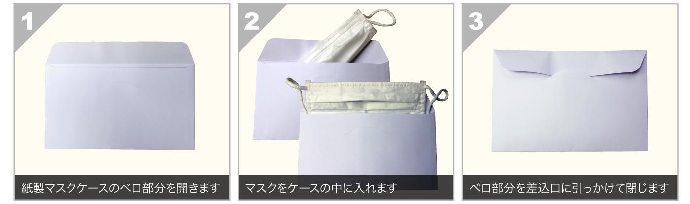 紙製マスクケース使い方のイメージ画像