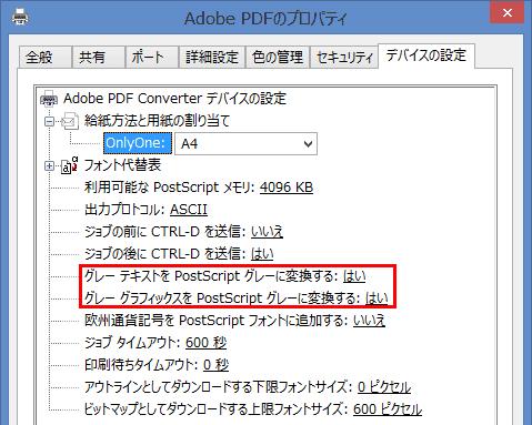 AdobePDFのプロパティ